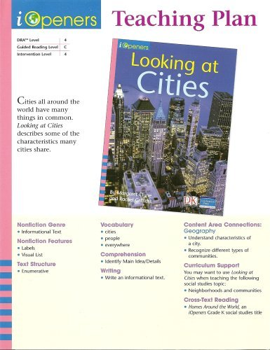 Looking at Cities Teaching Plan (iOpeners Guided Reading, Level C) (0765255960) by Margaret Clyne; Rachel Griffiths
