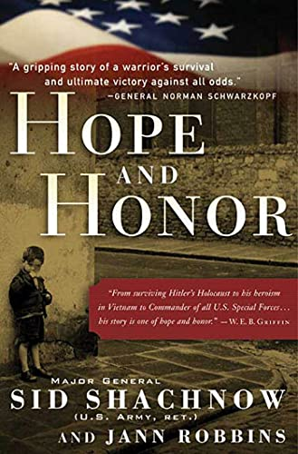 9780765312846: Hope and Honor: A Memoir of a Soldier's Courage and Survival