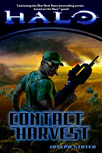 Contact Harvest 9780765315694 Based on the universe and characters from the multimillion selling Xbox video games Halo and Halo 2, Halo: Contact Harvest continues the story of humanity's next great battle in their ongoing wars against the seemingly infinite alien factions who consider the human race heathens. This is how it began... It is the year 2524. Harvest is a peaceful, prosperous farming colony on the very edge of human-controlled space. But we have trespassed on holy ground--strayed into the path of an aggressive alien empire known as the Covenant. What begins as a chance encounter between an alien privateer and a human freighter catapults mankind into a struggle for its very existence. But humanity is also locked in a bitter civil war known as the Insurrection. So the survival of Harvest's citizens falls to a squad of battle-weary UNSC Marines and their inexperienced colonial militia trainees. In this unlikely group of heroes, one stands above the rest...a young Marine staff sergeant named Avery Johnson.