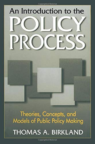 9780765604187: An Introduction to the Policy Process: Theories, Concepts and Models of Public Policy Making