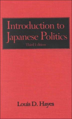 9780765605634: Introduction to Japanese Politics