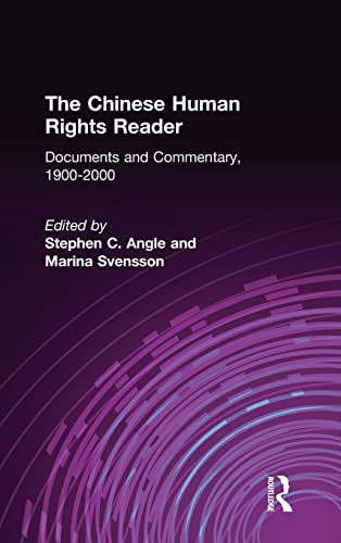 9780765606921: The Chinese Human Rights Reader: Documents and Commentary, 1900-2000 (East Gate Book)