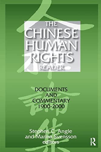 9780765606938: The Chinese Human Rights Reader: Documents and Commentary, 1900-2000 (East Gate Book)