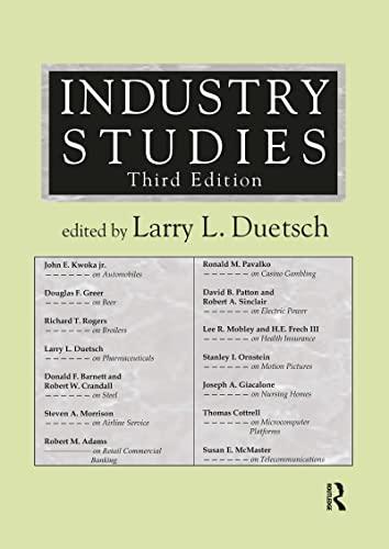 9780765609649: Industry Studies
