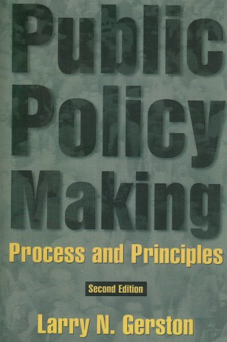 9780765612038: Public Policy Making: Process and Principles