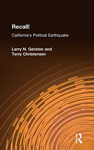 9780765614568: Recall!: California's Political Earthquake
