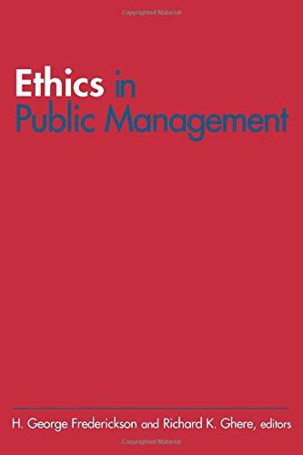 9780765614612: Ethics in Public Management
