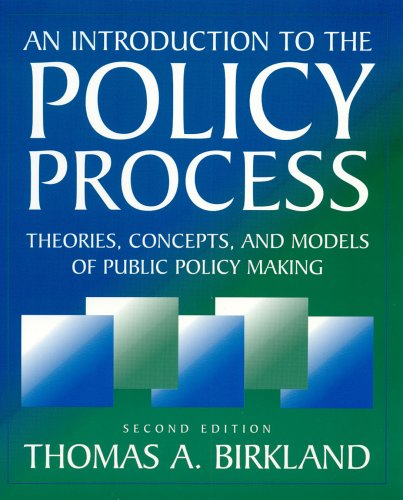 9780765614896: An Introduction to the Policy Process: Theories, Concepts and Models of Public Policy Making