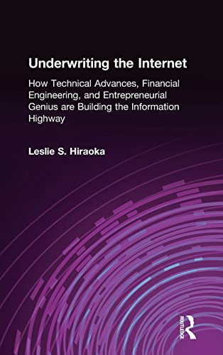9780765615176: Underwriting the Internet: How Technical Advances, Financial Engineering, and Entrepreneurial Genius are Building the Information Highway