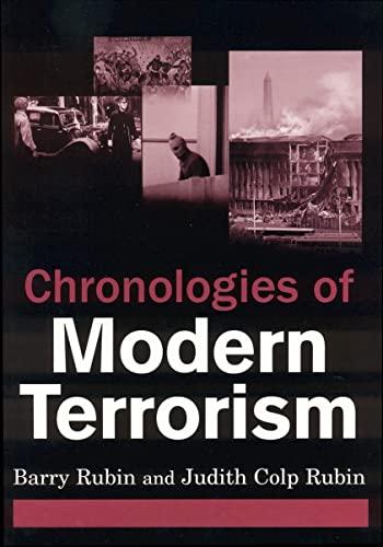 9780765620477: Chronologies of Modern Terrorism