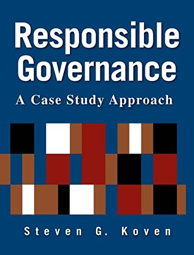 9780765620590: Responsible Governance: A Case Study Approach