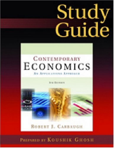 9780765620859: Contemporary Economics: Study Guide: An Applications Approach