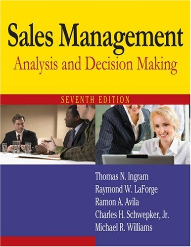 9780765622594: Sales Management: Analysis and Decision Making