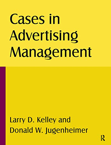 9780765622617: Cases in Advertising Management