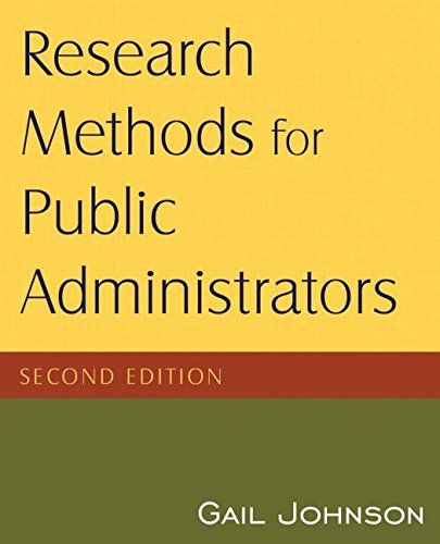 9780765623126: Research Methods for Public Administrators, 2nd Edition