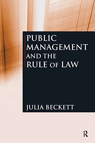 9780765623225: Public Management and the Rule of Law