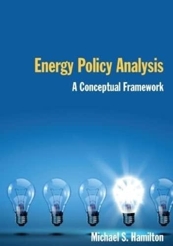 9780765623812: Energy Policy Analysis: A Conceptual Framework