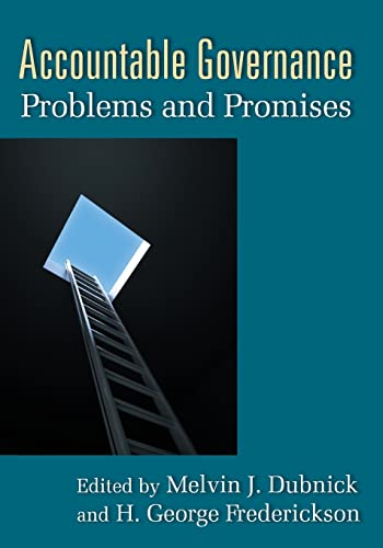 9780765623843: Accountable Governance: Problems and Promises