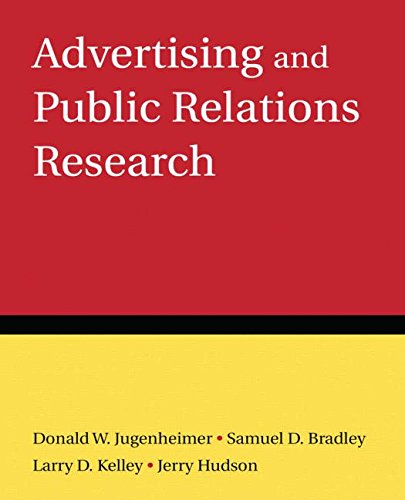 9780765624185: Advertising and Public Relations Research
