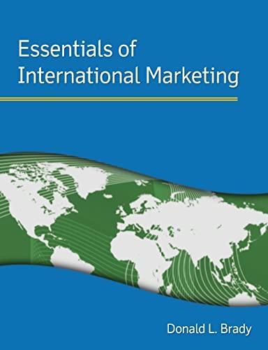 9780765624758: Essentials of International Marketing