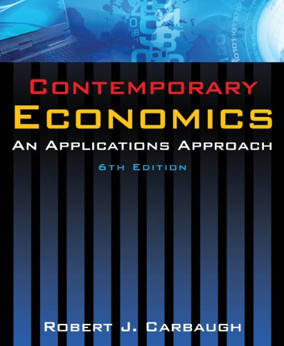 9780765624888: Contemporary Economics: An Applications Approach