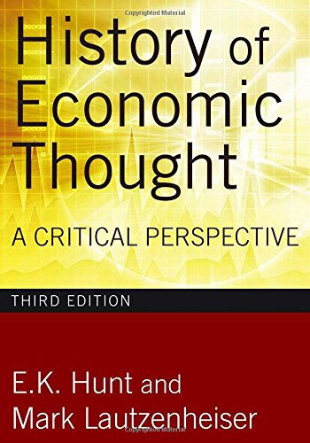 9780765625984: History of Economic Thought, 3rd Edition: A Critical Perspective