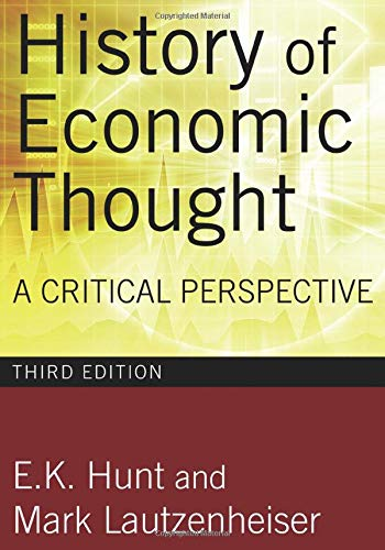 9780765625991: History of Economic Thought: A Critical Perspective