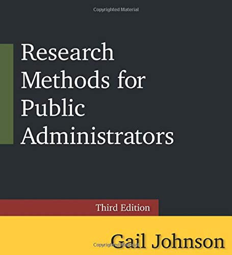 9780765637147: Research Methods for Public Administrators: Third Edition