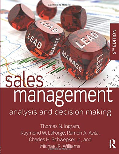9780765644510: Sales Management: Analysis and Decision Making
