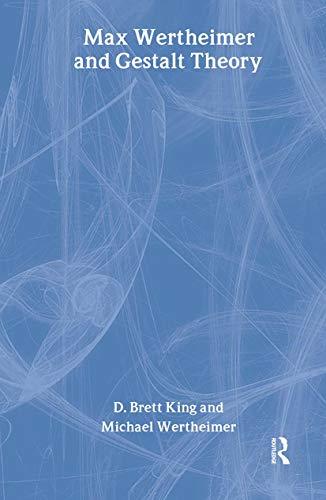 9780765802583: Max Wertheimer and Gestalt Theory