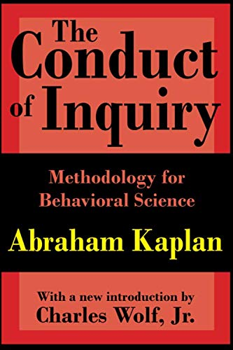 9780765804488: The Conduct of Inquiry: Methodology for Behavioral Science