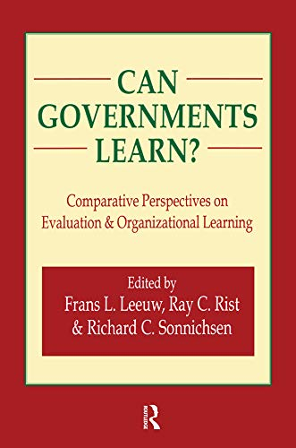 9780765806581: Can Governments Learn?: Comparative Perspectives on Evaluation and Organizational Learning (Comparative Policy Evaluation)
