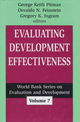 9780765808103: Evaluating Development Effectiveness (World Bank Series on Evaluation & Development)