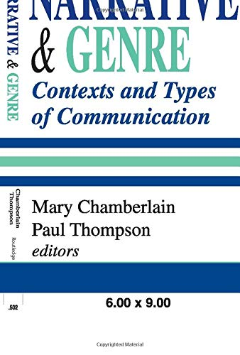 9780765808172: Narrative and Genre: Contexts and Types of Communication (Memory and Narrative)