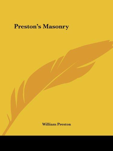 9780766100640: Preston's Masonry
