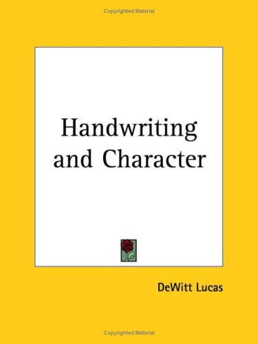 9780766105423: Handwriting and Character