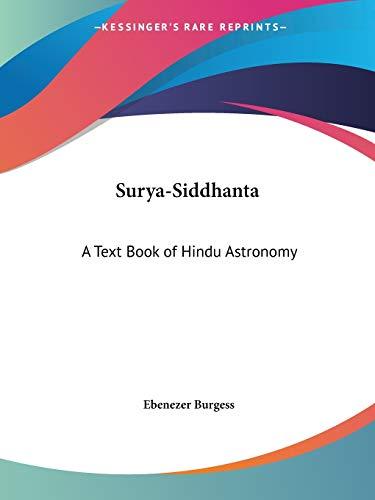 9780766107120: Surya-Siddhanta: A Text Book of Hindu Astronomy, 1858