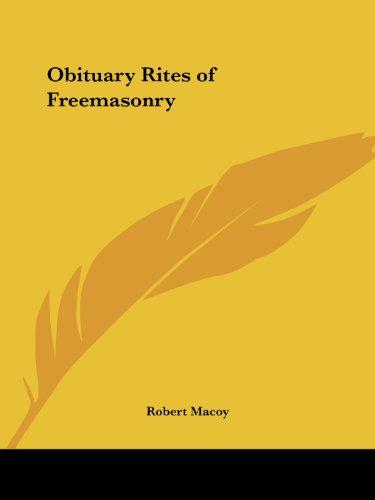 9780766107427: Obituary Rites of Freemasonry