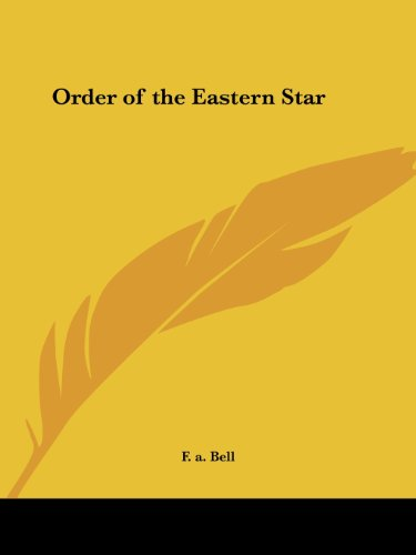 9780766127128: Order of the Eastern Star