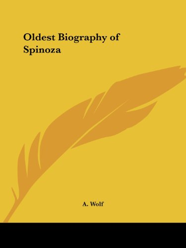 9780766140400: Oldest Biography of Spinoza 1927