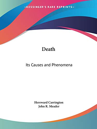 9780766146921: Death: Its Causes and Phenomena