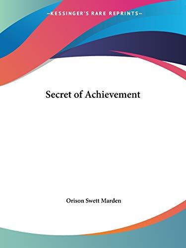 9780766153011: Secret of Achievement