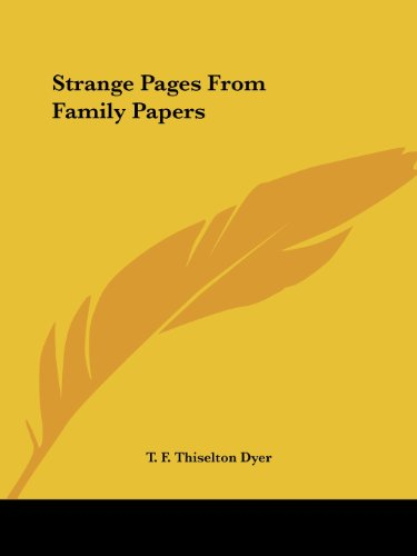 9780766153462: Strange Pages From Family Papers