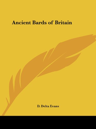 9780766153479: Ancient Bards of Britain (1906)