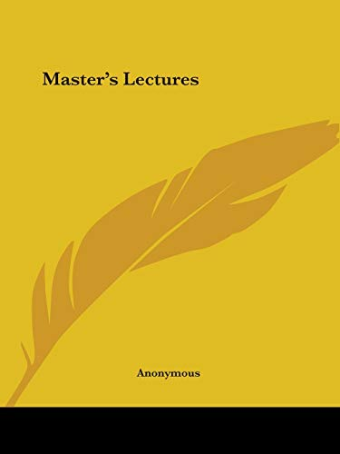 9780766156784: Master's Lectures