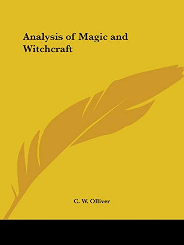 9780766156999: Analysis of Magic and Witchcraft