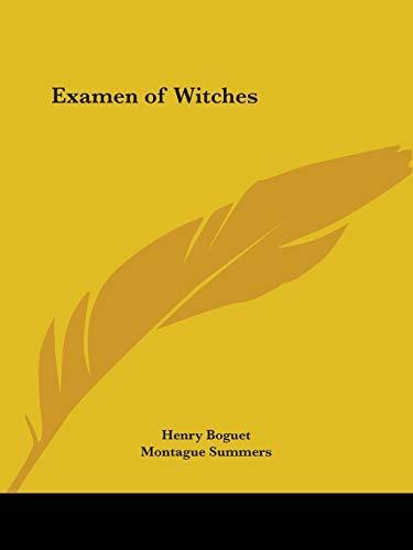 9780766158214: Examen of Witches