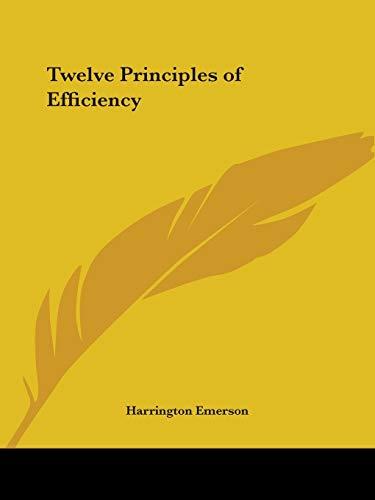 9780766160330: Twelve Principles of Efficiency