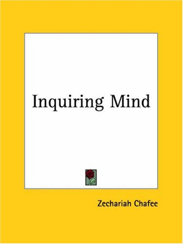 9780766160781: Inquiring Mind 1928