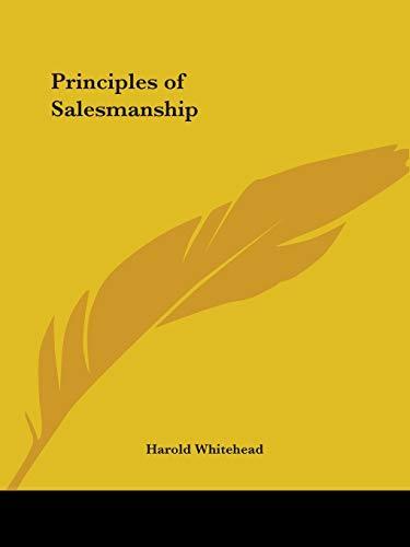 9780766161429: Principles of Salesmanship